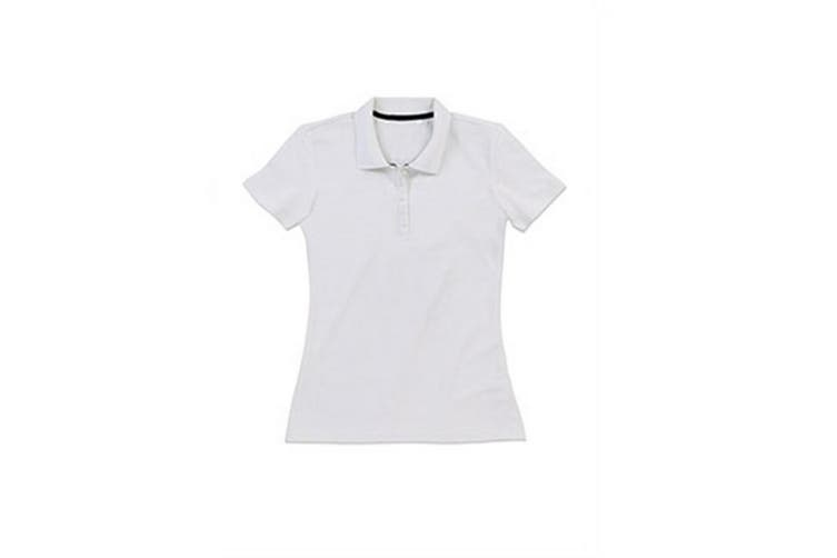 Stedman Stars Womens/Ladies Hanna Cotton Polo (White) (L)