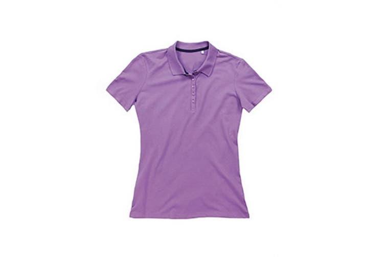 Stedman Stars Womens/Ladies Hanna Cotton Polo (Lavender Purple) (S)