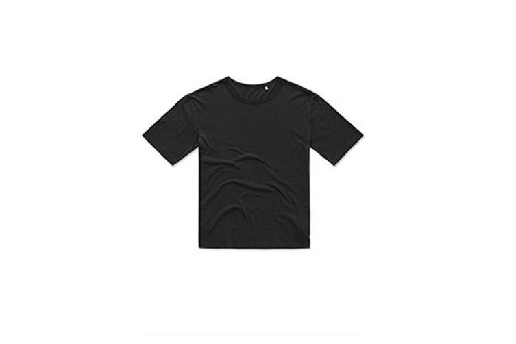 Stedman Mens Organic Slub T-Shirt (Black Opal) (2XL)