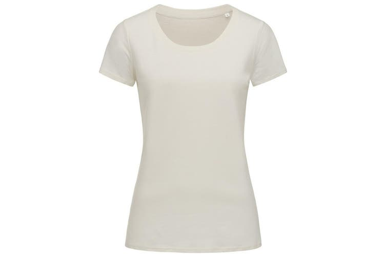Stedman Womens/Ladies Janet Organic Crew Neck Tee (Winter White) (L)