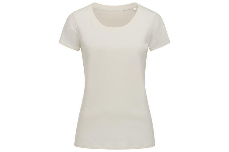 Stedman Womens/Ladies Janet Organic Crew Neck Tee (Winter White) (M)