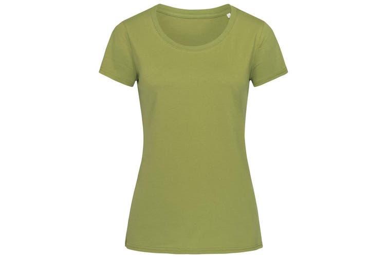 Stedman Womens/Ladies Janet Organic Crew Neck Tee (Earth Green) (XL)