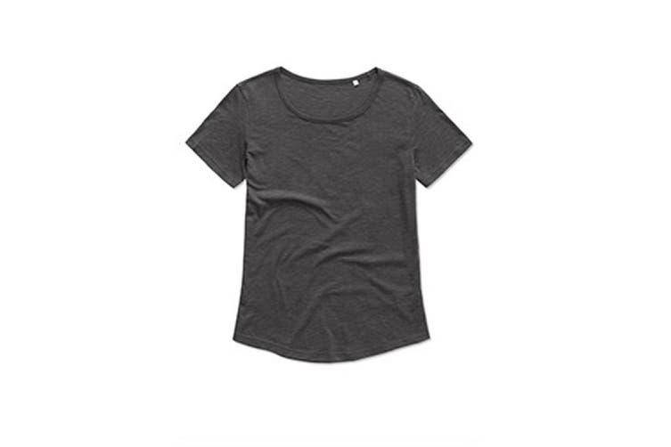 Stedman Womens/Ladies Organic Slub Tee (Slate Grey) (M)