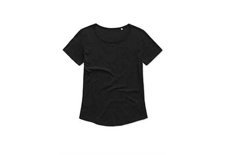 Stedman Womens/Ladies Organic Slub Tee (Black Opal) (XL)