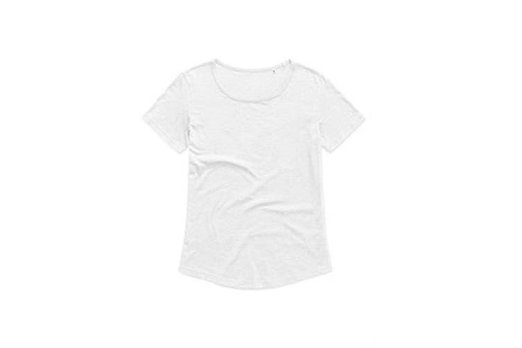 Stedman Womens/Ladies Organic Slub Tee (White) (XL)
