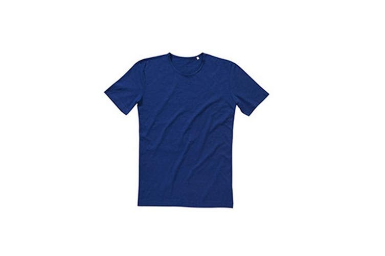 Stedman Stars Mens Shawn Slub Crew Neck Tee (True Blue) (XL)