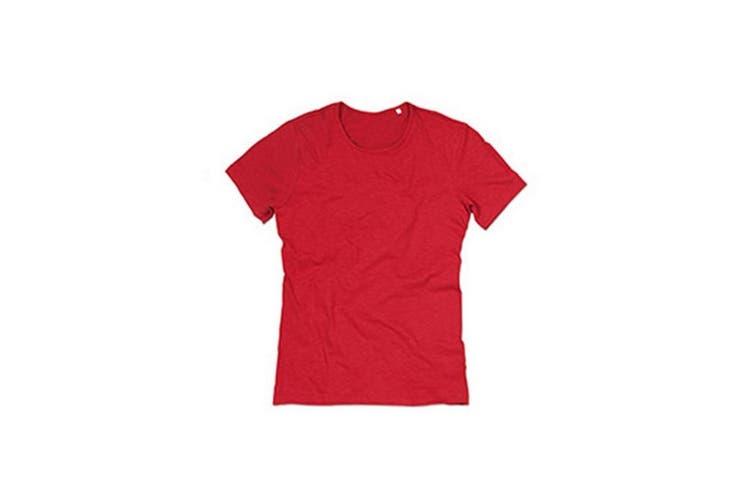 Stedman Stars Mens Shawn Slub Crew Neck Tee (Crimson Red) (2XL)