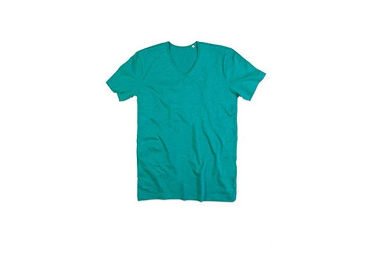 Stedman Mens Shawn V Neck Slub T-Shirt (Bahama Green) (S)