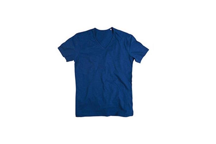 Stedman Mens Shawn V Neck Slub T-Shirt (True Blue) (XL)