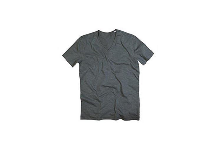Stedman Mens Shawn V Neck Slub T-Shirt (Slate Grey) (2XL)