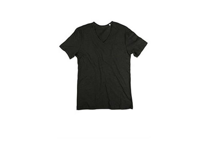 Stedman Mens Shawn V Neck Slub T-Shirt (Black Opal) (XL)