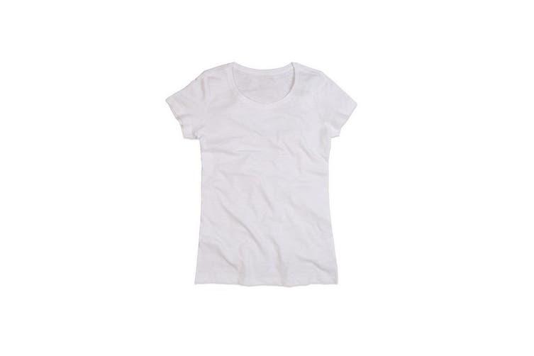 Stedman Stars Womens/Ladies Sharon Slub Crew Neck T-Shirt (White) (L)