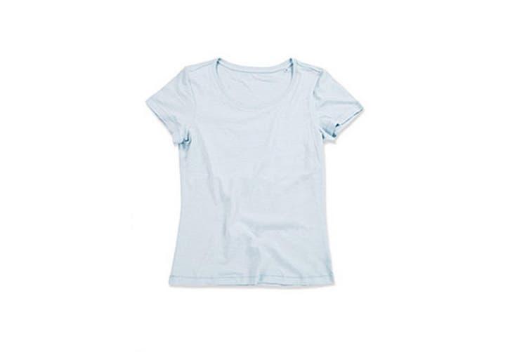 Stedman Stars Womens/Ladies Sharon Slub Crew Neck T-Shirt (Powder Blue) (XL)