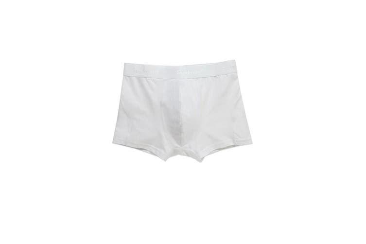 Stedman Mens Dexter Boxer Shorts (2 Pack) (White) (S)