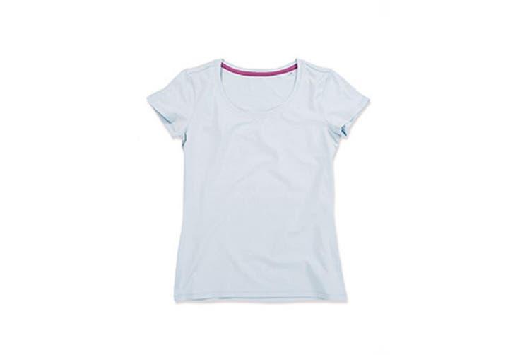 Stedman Womens/Ladies Claire Crew Neck Tee (Powder Blue) (XL)