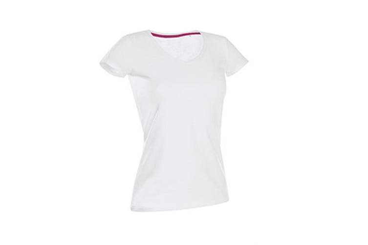 Stedman Womens/Ladies Claire V Neck Tee (White) (XL)