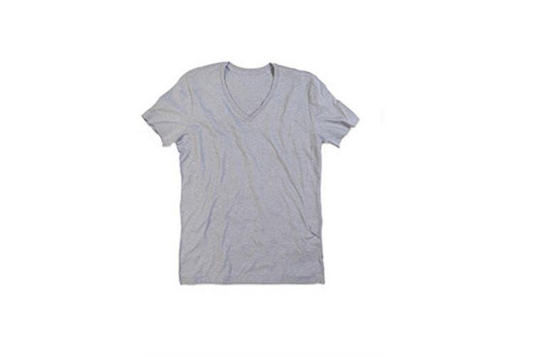 Stedman Mens Luke Melange V Neck T-Shirt (Heather Grey) (XL)