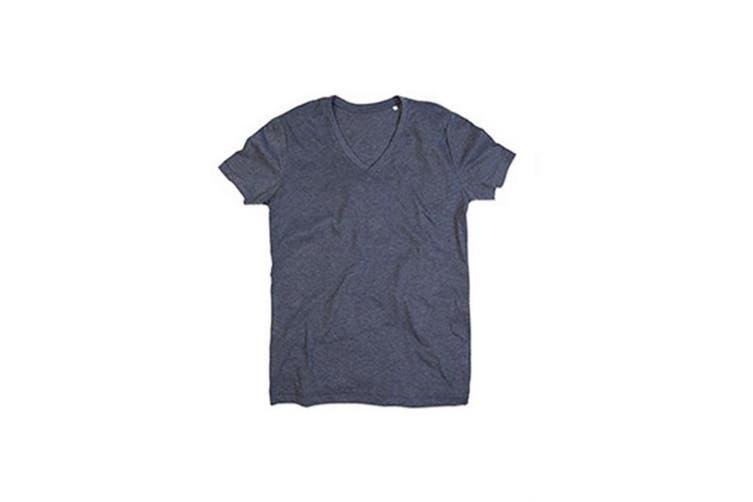 Stedman Mens Luke Melange V Neck T-Shirt (Charcoal Heather Grey) (XL)