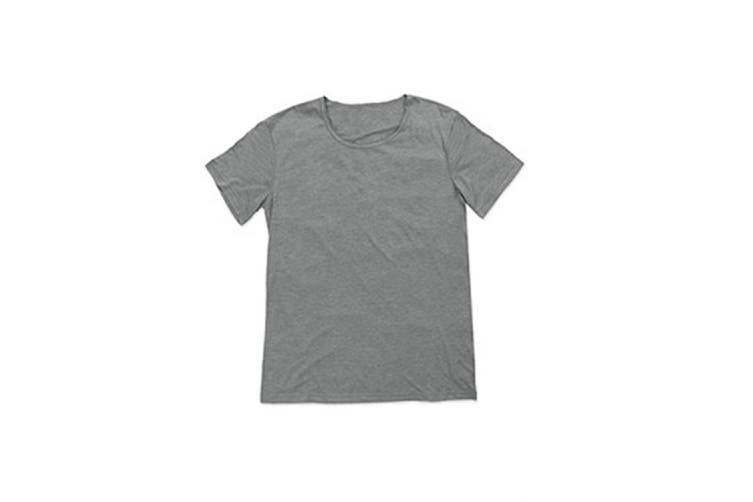Stedman Mens David Melange Oversized Crew Neck Tee (Vintage Grey) (L)