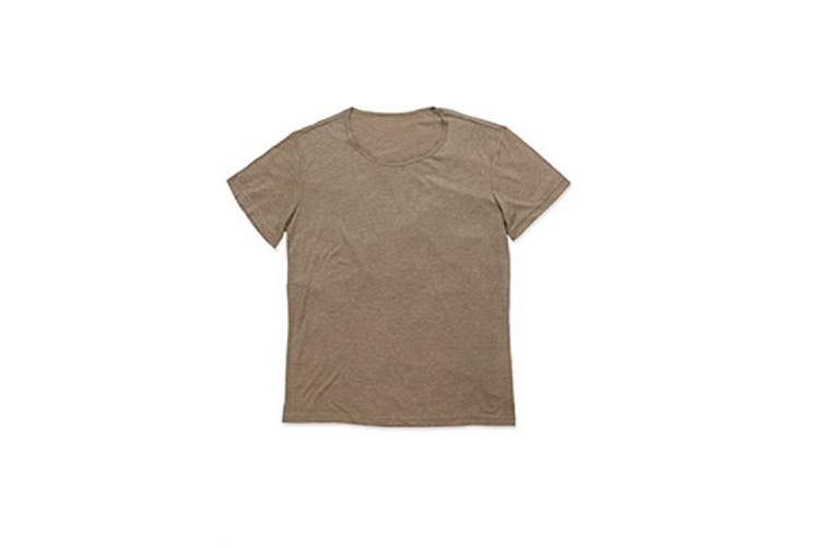 Stedman Mens David Melange Oversized Crew Neck Tee (Vintage Brown) (2XL)