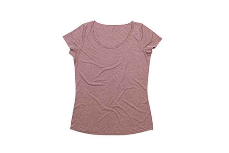 Stedman Womens/Ladies Daisy Melange Oversized Crew Neck Tee (Vintage Rose) (XL)