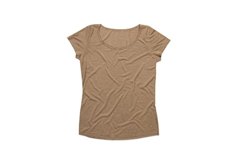 Stedman Womens/Ladies Daisy Melange Oversized Crew Neck Tee (Vintage Brown) (XL)