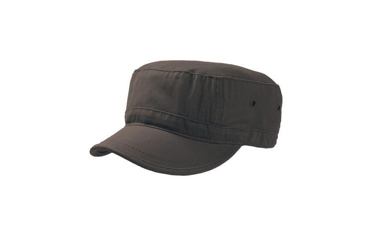 Atlantis Chino Cotton Urban Military Cap (Pack of 2) (Brown) (S-M)