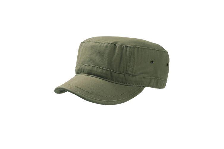 Atlantis Chino Cotton Urban Military Cap (Pack of 2) (Olive) (S-M)