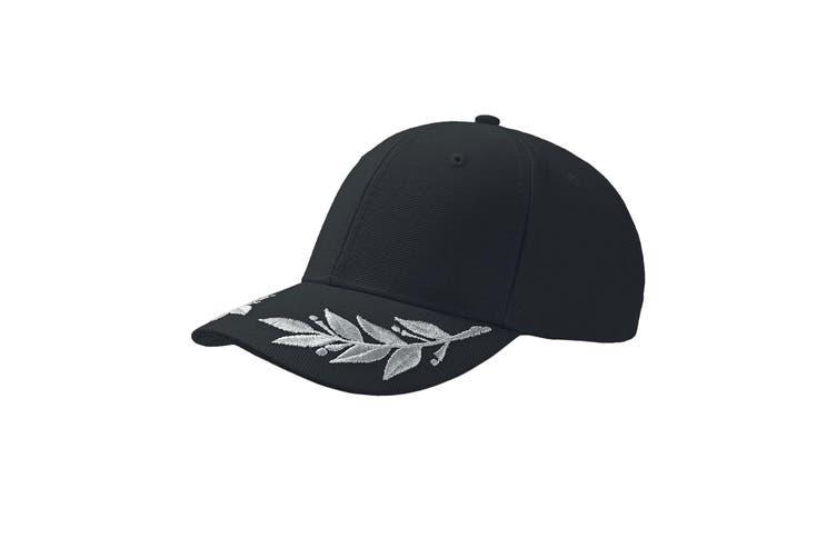 Atlantis Winner Laurel Embroidered Cap (Pack of 2) (Black) (One Size)