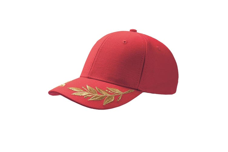 Atlantis Winner Laurel Embroidered Cap (Pack of 2) (Red) (One Size)