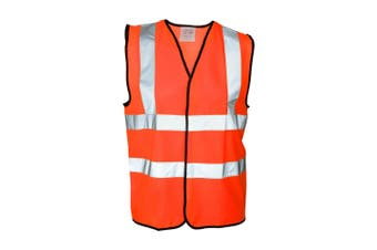 Absolute Apparel Mens Hi Vis Waistcoat (Pack of 2) (Orange) (4XL)
