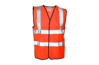 Absolute Apparel Mens Hi Vis Waistcoat (Pack of 2) (Orange) (L)