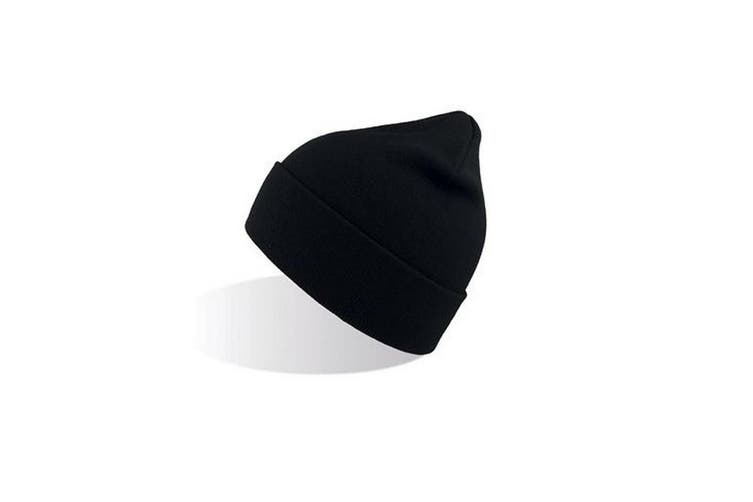 Atlantis Unisex Organic Cotton Beanie (Black) (One Size)