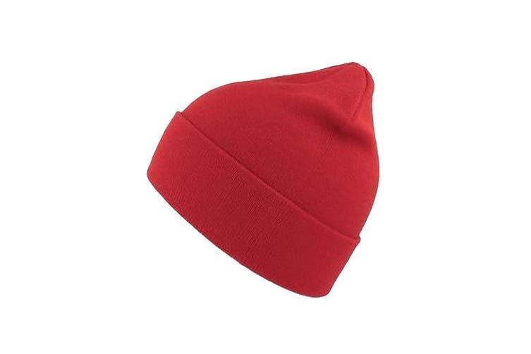 Atlantis Unisex Organic Cotton Beanie (Red) (One Size)