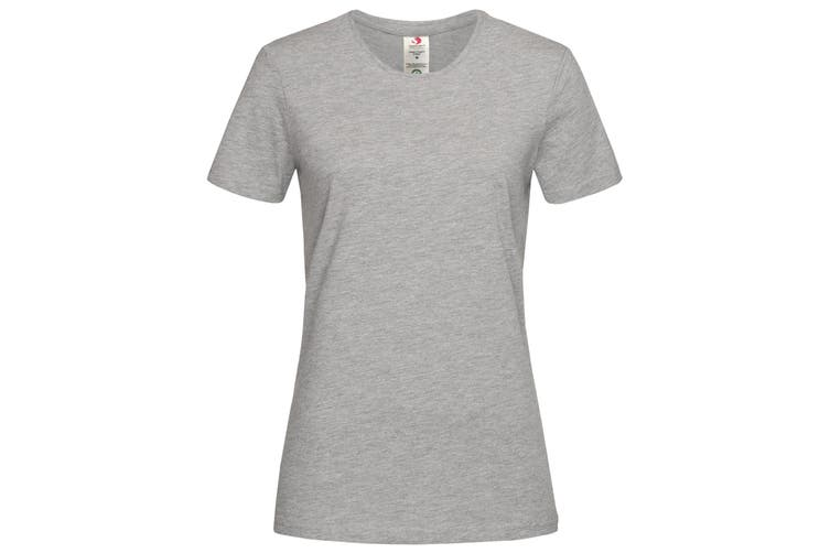 Stedman Womens/Ladies Classic Organic T-Shirt (Heather Grey) (XL)