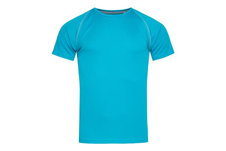 Stedman Mens Active Raglan T-Shirt (Hawaii Blue) (M)