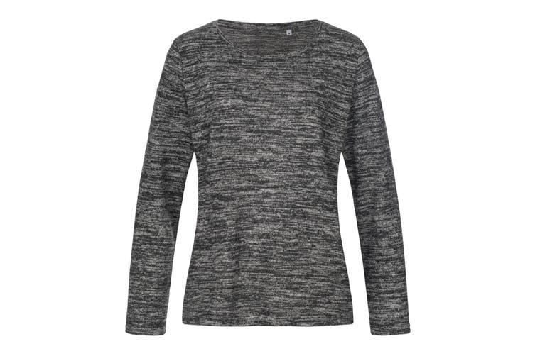 Stedman Womens/Ladies Stars Crew Neck Knitted Sweater (Dark Grey Melange) (L)