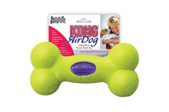 KONG Air Squeaker Bone Shaped Dog Toy (Fluorescent Green) (Medium)