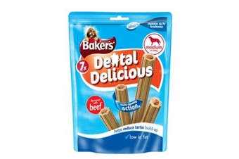 Bakers Dental Delicious Medium Breed Beef Sticks (Pack Of 6) (Beef) (6 x 200g)