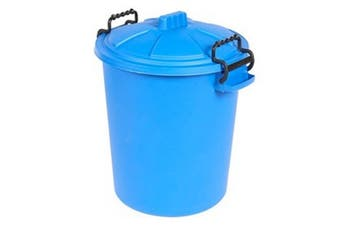 Saddlers Heavy Duty Dustbin And Lid With Clip (Blue) (50L)