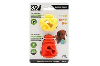 K9 Connectables Plastic Puzzle Pack Dog Toy (Orange/Yellow)