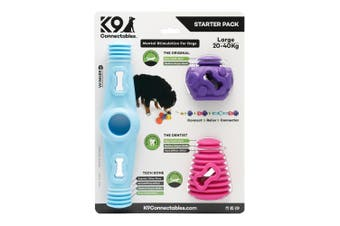 K9 Connectables Dog Plastic Starter Pack (3 Pieces) (Blue/Pink/Purple)
