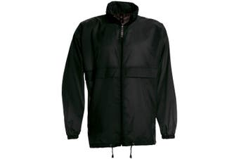 B&C Sirocco Mens Lightweight Jacket / Mens Outer Jackets (Black) (2XL)