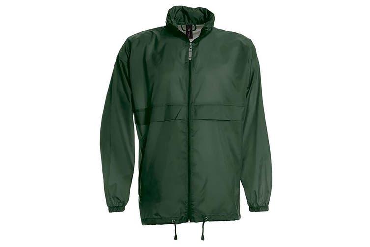 B&C Sirocco Mens Lightweight Jacket / Mens Outer Jackets (Bottle Green) (2XL)