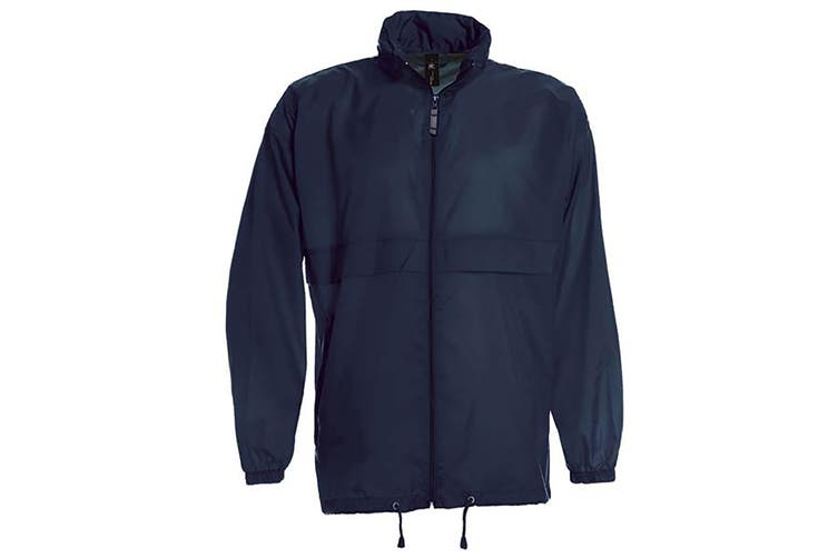 B&C Sirocco Mens Lightweight Jacket / Mens Outer Jackets (Navy Blue) (L)