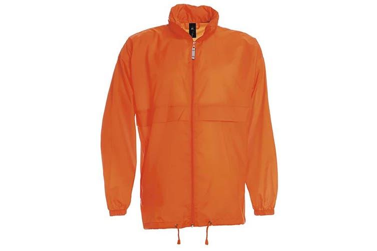 B&C Sirocco Mens Lightweight Jacket / Mens Outer Jackets (Orange) (2XL)