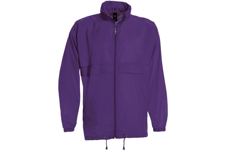 B&C Sirocco Mens Lightweight Jacket / Mens Outer Jackets (Purple) (S)