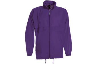 B&C Sirocco Mens Lightweight Jacket / Mens Outer Jackets (Purple) (XL)