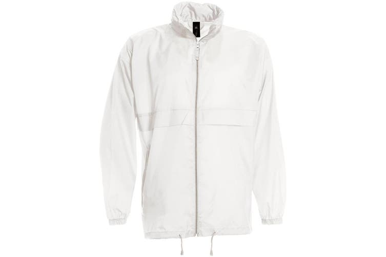 B&C Sirocco Mens Lightweight Jacket / Mens Outer Jackets (White) (L)