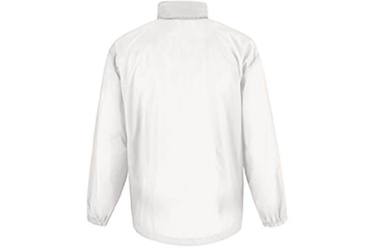 B&C Sirocco Mens Lightweight Jacket / Mens Outer Jackets (White) (XL)